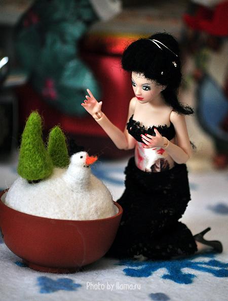 Хлоя и снеговик