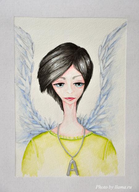 Ангел. Акварель.