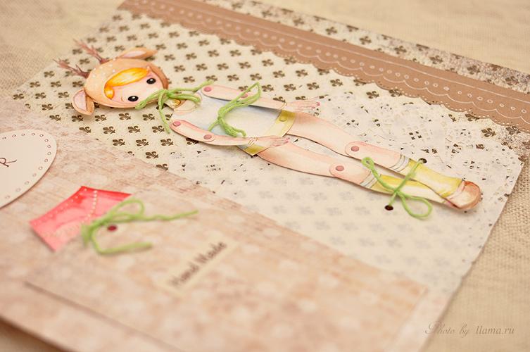 бумажная шарнирная кукла